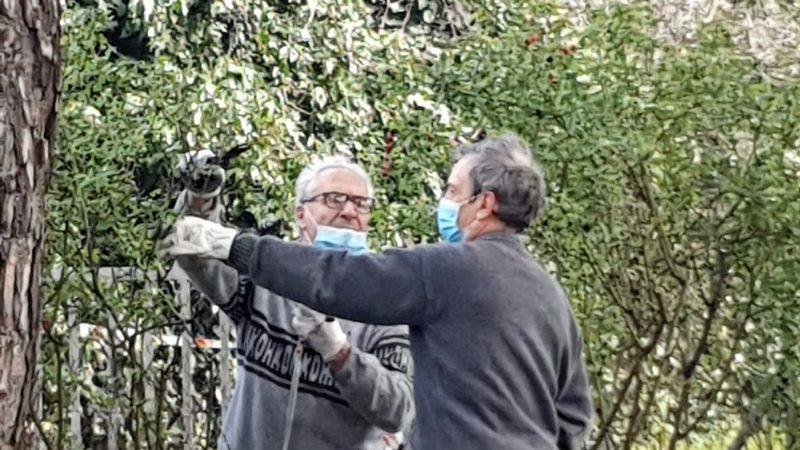 INCONTRO AL PARCO: 3° appuntamento, Enzo 83 anni con la passione del giardinaggio si unisce ai volontari di TS Idee e della Protezione Civile VII Gruppo